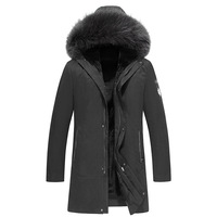 New arrival winter jacket men parka with fox fur hood russian winter coats and jackets inside thick warm fur plus size