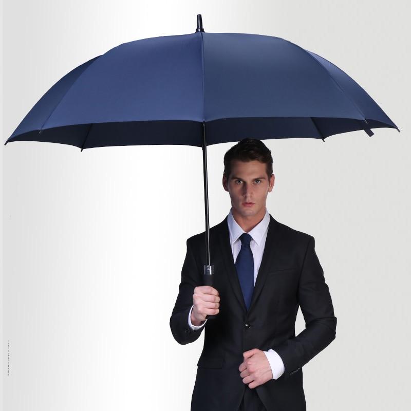 MUERHUA Large Golf Umbrella Strong Windproof Semi Automatic Long Umbrella Oversize Outdoor Man And Womens Umbrellas 25 30