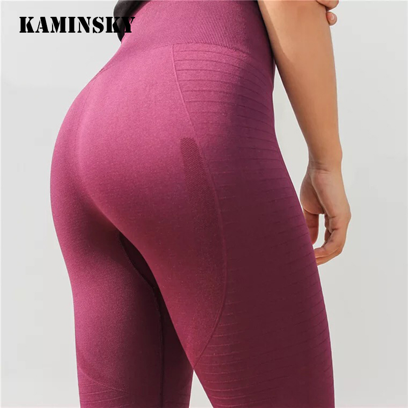 Kaminsky New Women's Fashion Seamless Leggings Athleisure Sporting Sweat Pants Hollow Sexy Lasdies Slim Workout Leggings