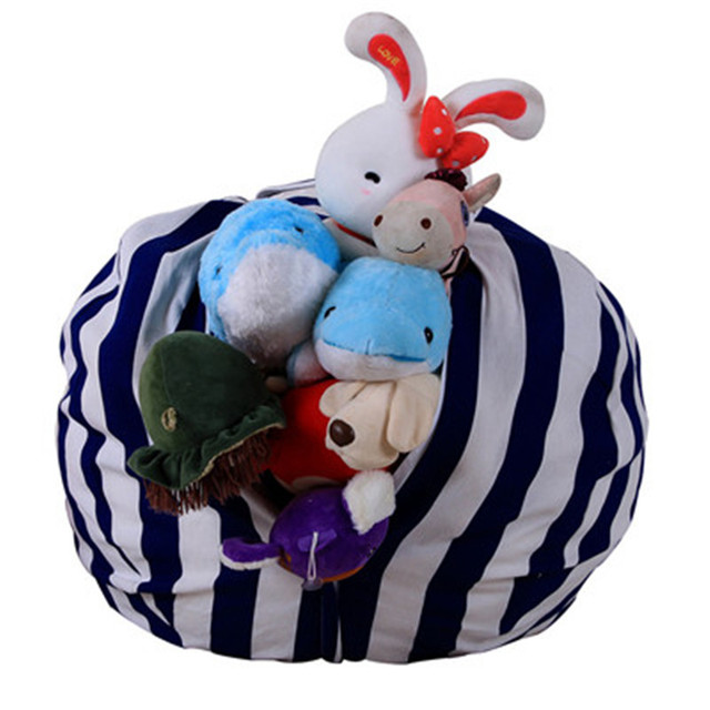 Storage Bag Kids Stuffed Animal Plush Toy Storage Bean Bag Soft Pouch Stripe Fabric Bag u0026  sc 1 st  AliExpress.com & Storage Bag Kids Stuffed Animal Plush Toy Storage Bean Bag Soft ...