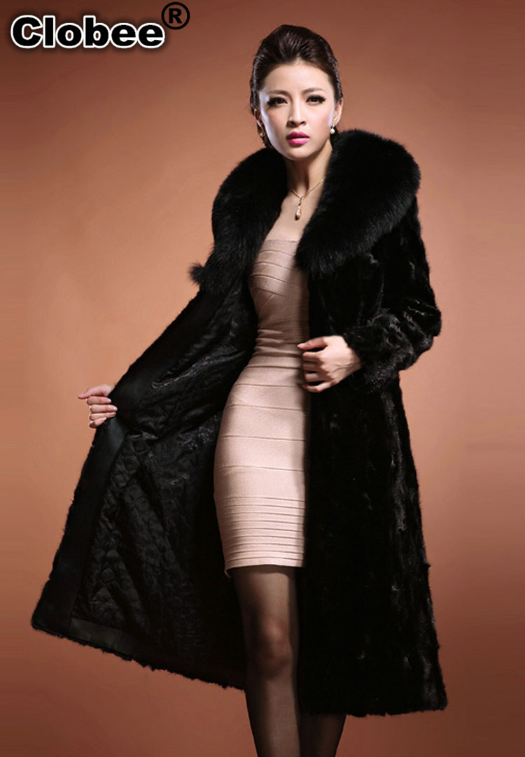 Popular Jacket Faux Fur Long Black-Buy Cheap Jacket Faux Fur Long ...