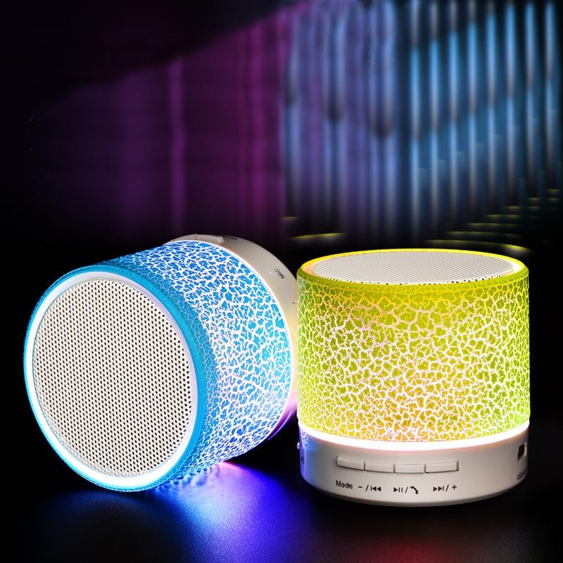 Bluetooth Lautsprecher Minwireless Lautsprecher Riss Led Tf Usb Subwoofer Bluetooth Lautsprecher Mp3 Stereo Audio Musik-player