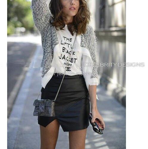 Aliexpress.com : Buy SK66 Celebrity Style Women Ladies Faux ...