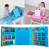 Kids Colorful Crayons/Oil Painting Sticks/Markers/Colored Pencils/Watercolor Pigment DIY Painting Drawing Graffiti Tool Toy