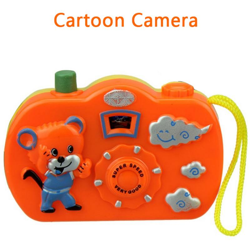 Cartoon Camera Animal Pattern Light Projection Camera Toy Kids Educational Toys For Children Baby Christmas Gifts