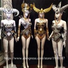 Новый Дизайн Sexy Lady сценическое платье партии 12 созвездий Catwalk Костюмы для бальных танцев Для женщин костюм