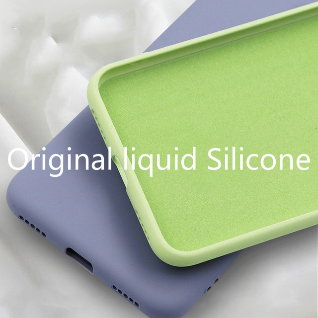 Soft Liquid Silicone Phone Case for iphone X XS MAX XR 7 8 6 6S Plus Soft Gel Rubber Shockproof Cover Full Protective back case