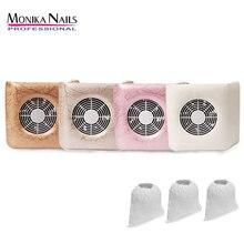 Monika ногтей пылесборник с 3 пылесборников ногтей пылесос маникюрные инструменты ногтей оборудование для очистки