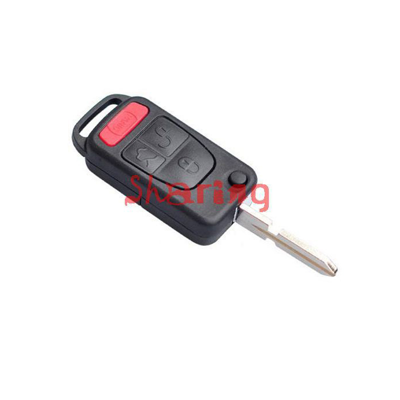 For Benz 3+1 Buttons Panic Switchblade Flip Key Shell HU39 Blade For ML320 ML55 AMG