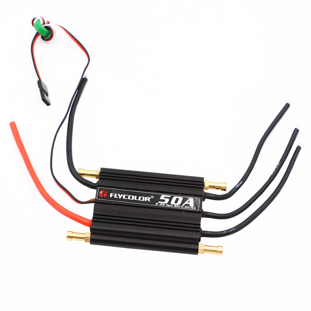 50A Electronic Speed Controller Brushless w/ BEC for 55cm RC Racing Boats Motor DIY mystery cloud 50a brushless esc w 2a bec rc speed controller brushless motor rc airplane helicopter
