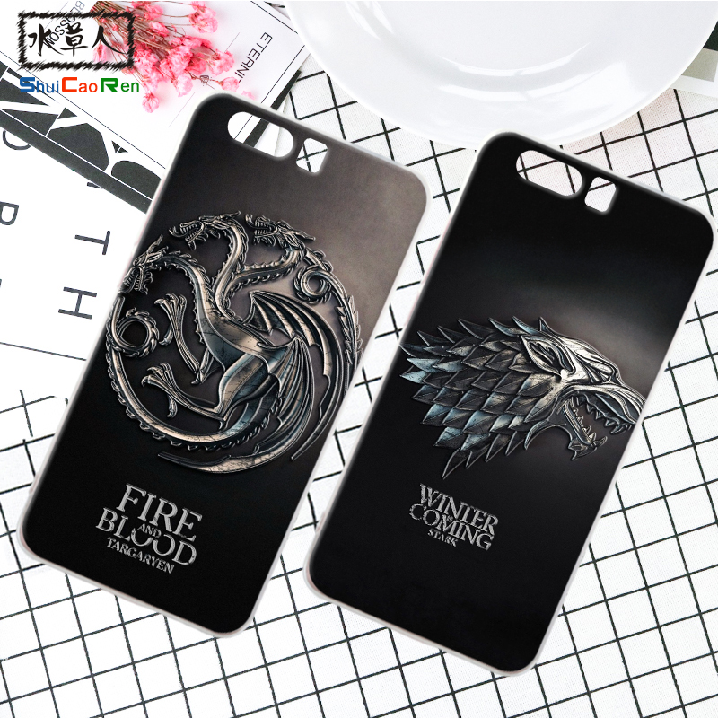 ShuiCaoRen Silicone Case For Huawei Ascend P10 Lite Retra Game of Thrones Cover Coque Ice and