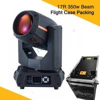 2pcs Flight Case 17r Beam Spot Stage Lights 350w Pure Beam Moving Head Light