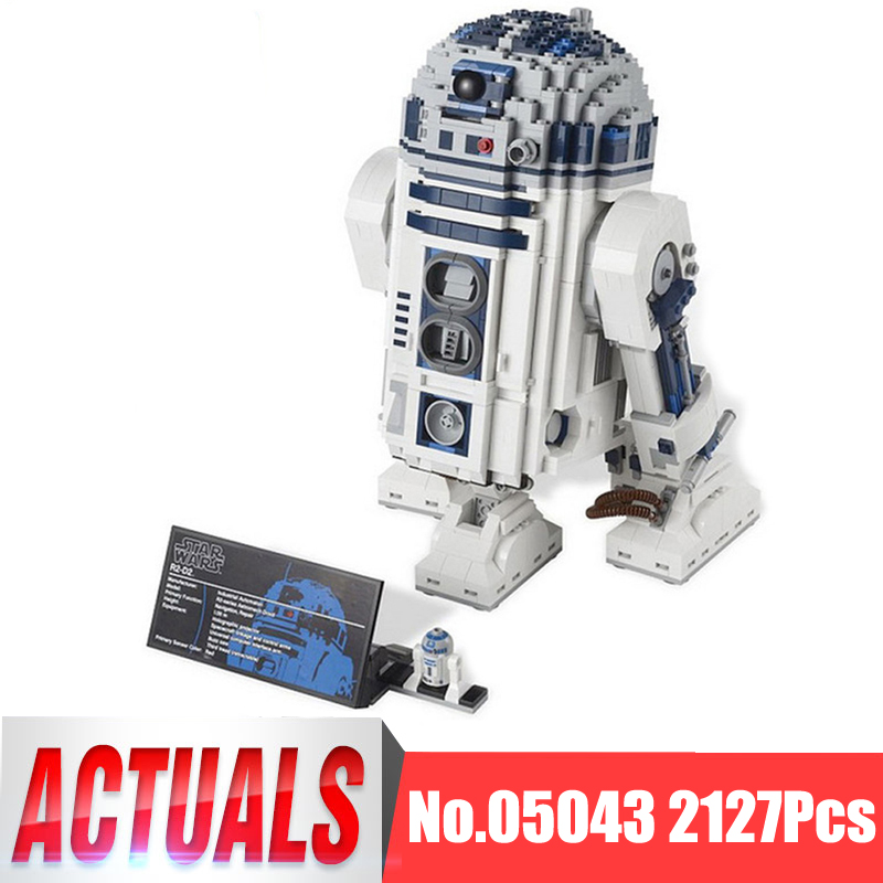 Lepin Star Wars Figures 05043 2127Pcs The R2-D2 Robot Model Building Kit Blocks Bricks Educational Kid Toy Compatible With 10225 new 2127pcs lepin 05043 star war series r2 d2 the robot building blocks bricks model toys 10225 boys gifts