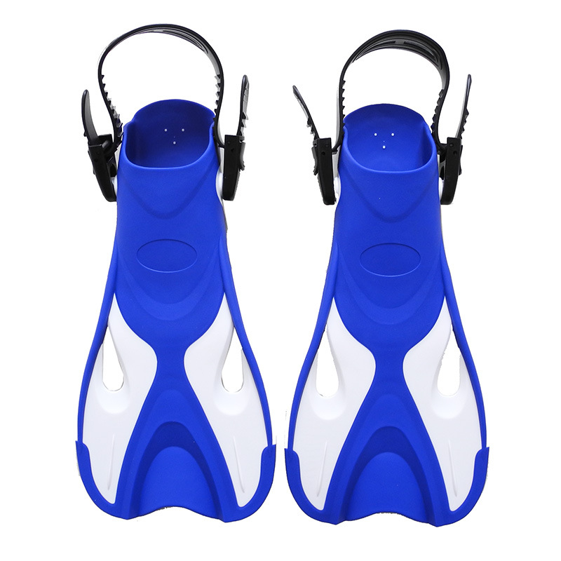 TREE BETTER Swimming fins boy girl Adjustable Foot flippers Submersible Silicone Open heel Snorkeling Kids Beginner Diving shoes
