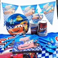 82pc Disney Cars McQueen Kids Birthday Party Decoration Party Supplies Baby Birthday Party Pack Event Cars Disney Birthday Kids