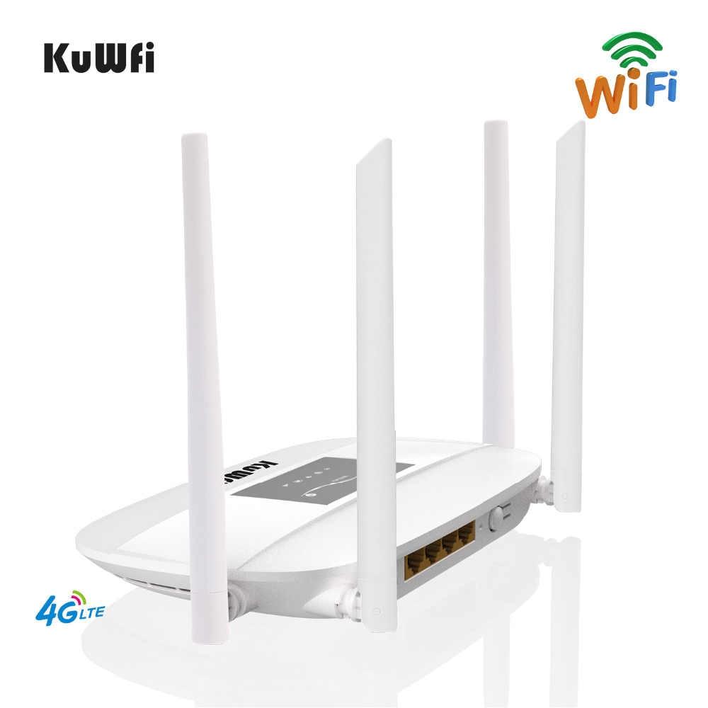 300Mbps סמארטפון 4G LTE Wifi נתב, מקורה 4G אלחוטי CPE נתב עם 4Pcs אנטנות LAN יציאת & כרטיס ה-SIM חריץ עד 32 משתמשים