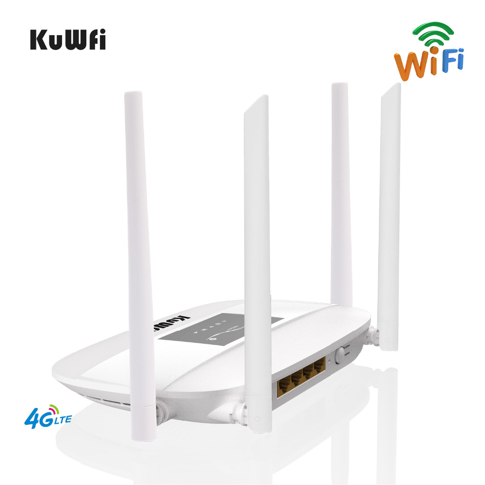Image 4 - 300Mbps Unlocked 4G LTE Wifi Router, Indoor 4G Wireless CPE Router with 4Pcs Antennas and LAN Port&SIM Card Slot Up to 32users-in Wireless Routers from Computer & Office