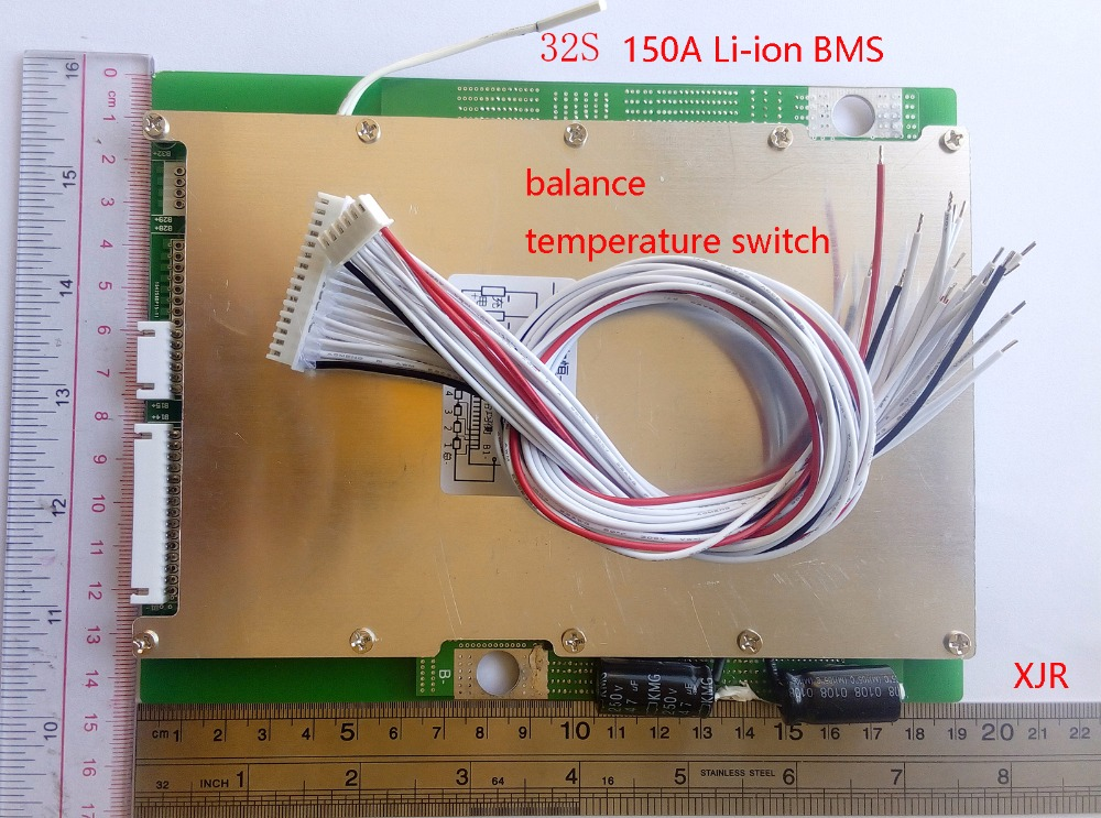 32S 150A lithium lipo Polymer BMS PCM PCB battery protection board for 32 Pack 18650 Li