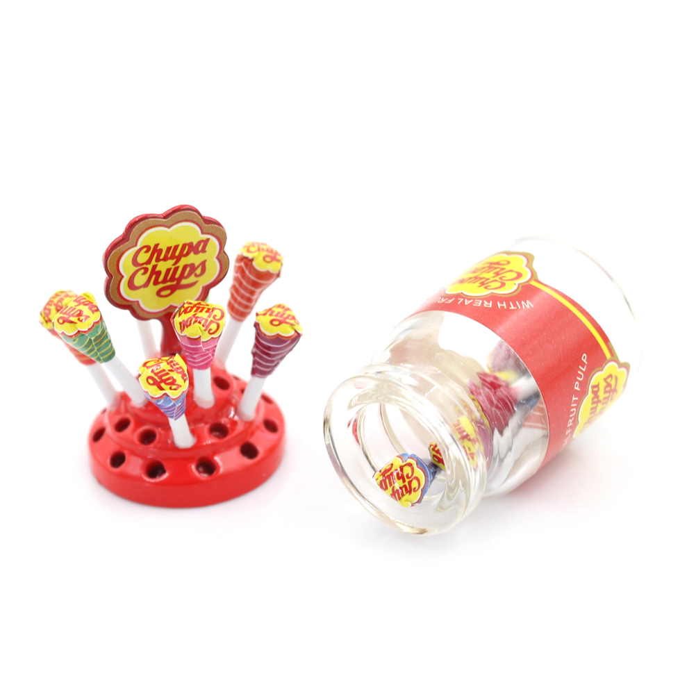 <font><b>Miniature</b></font> Food Dessert Sugar Mini With Case Holder Candy For 1/12 <font><b>Dollhouse</b></font> <font><b>Kitchen</b></font> <font><b>Furniture</b></font> Toys Accessories image