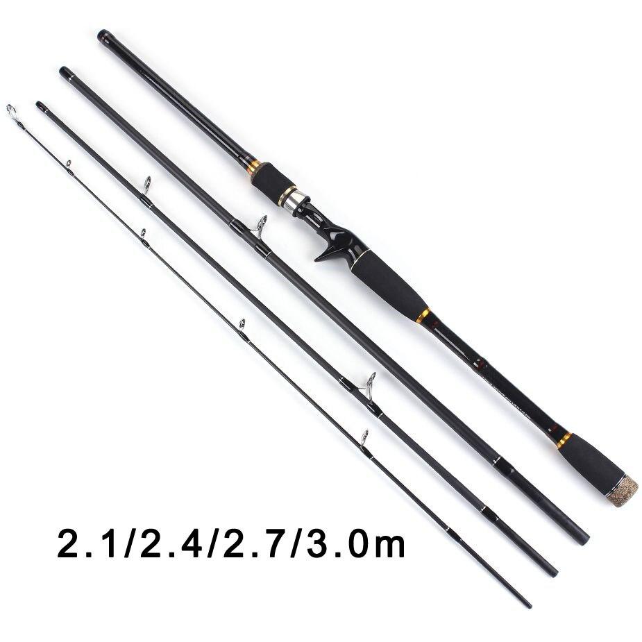 TOMA 2,1 mt 2,4 mt 2,7 mt 3,0 mt 100% Carbon Fiber Rod Spinning Angelruten Casting Reise Stange 4 abschnitte Schnelle Action Angeln Locken Stange