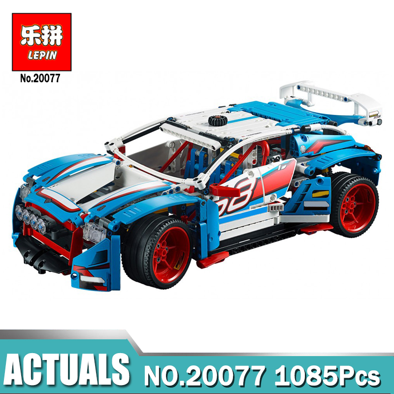 Lepin Technic 20077 compatible legoing Technic 42077 The Rally Car Set Building Blocks Bricks Educational Funny Children Toys new lepin 16009 1151pcs queen anne s revenge pirates of the caribbean building blocks set compatible legoed with 4195 children