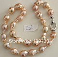 Jewelry 001970  17MM BEAUTIFUL JAPANESE KASUMI PEARL NECKLACE 46CM 5.4