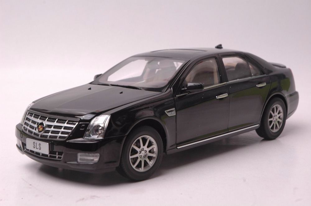1:18 Diecast Model for GM Cadillac SLS Black Alloy Toy Car Miniature Collection Gifts maisto bburago 1 18 fiat 500l retro classic car diecast model car toy new in box free shipping 12035