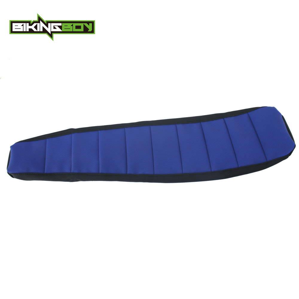 BIKINGBOY Blue Supermoto Motocross Offroad Ribbed Gripper Soft Seat Cover for YAMAHA YZ 125 250 YZ125 YZ250 02-17 16 15 14 13 12(China)
