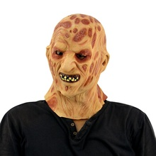 Halloween Mask Scary Clown Latex Full Face Mask Big Mouth Red Hair Nose Cosplay Horror Masquerade Adult Ghost Party For Props