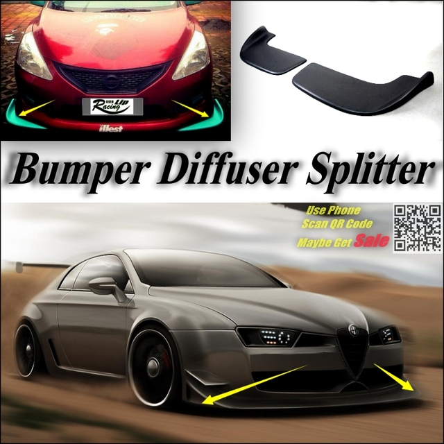 car splitter diffuser bumper canard lip for alfa romeo brera
