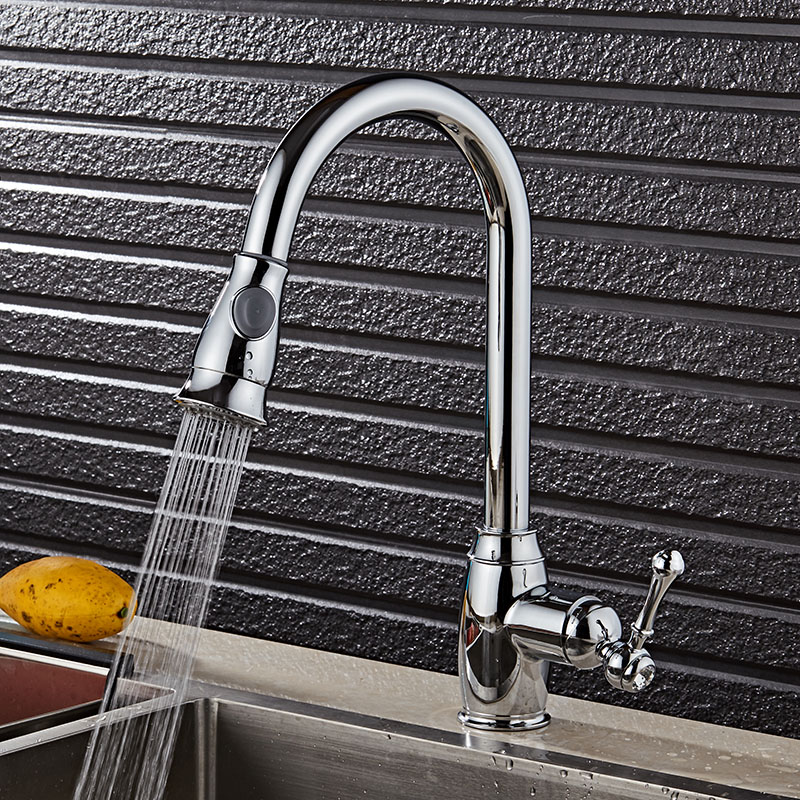 Newly Arrived Pull Out Kitchen Faucet Chrome/nickel/black Sink Mixer Tap 360 degree rotation kitchen mixer taps Kitchen Tap new arrival pull out kitchen faucet chrome black sink mixer tap 360 degree rotation kitchen mixer taps kitchen tap