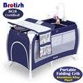 Luz cama de bebê-Peso Tubo de Liga Alumium Brotish Multifuncional Jogo Cama de Bebé Shaker BB Berço Portátil Berço SGS Certified