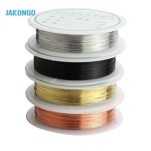 JAKONGO 0.4mm Round Copper Wire for Jewelry DIY Winding Rope -in ...
