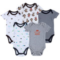 New 2016 Brand Baby Bodysuits Short Sleeve Babies Newborn Cotton Body Baby Next Infant Boy & Girl Clothing set