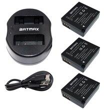 Batmax 3 шт. DMW-BLG10 DMW BLE9 Аккумулятор + USB Двойной Зарядное Устройство для Panasonic BLG10E BLG10GK BLG10 DMC-GF6 DMC-GX7 GF6 GX7