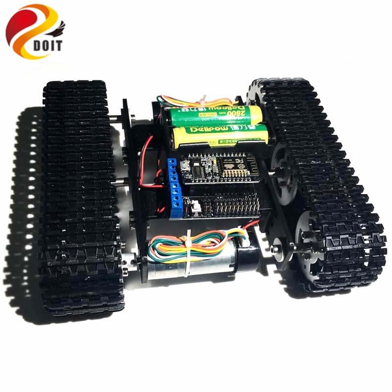 DOIT Mini T100-telaketjuauton alusta, jossa Nodemcu-langaton - Radio-ohjattavat lelut