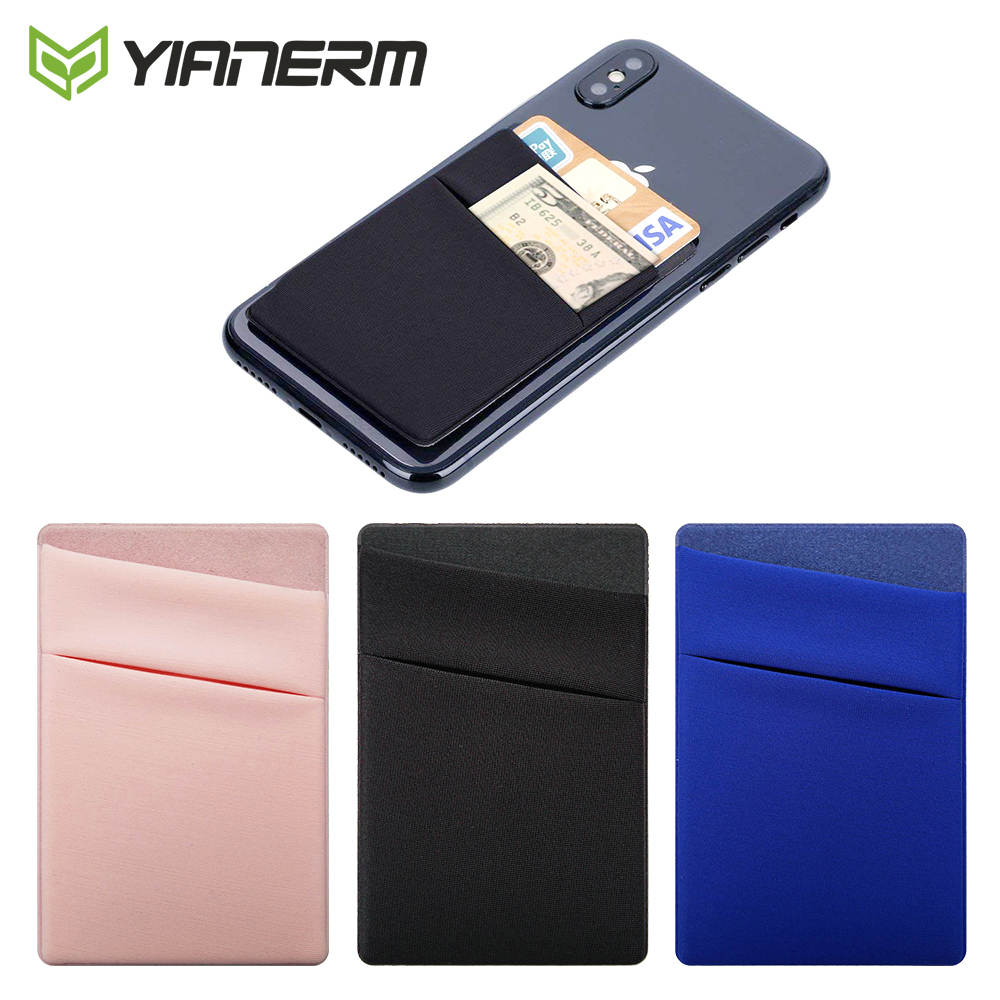 Yianerm Phone Case Wallet Credit Bus Card Dual Layer Pocket 3M Sticky Notes Pouch For for iPhone,Galaxy Note,Xiaomi,Huawei