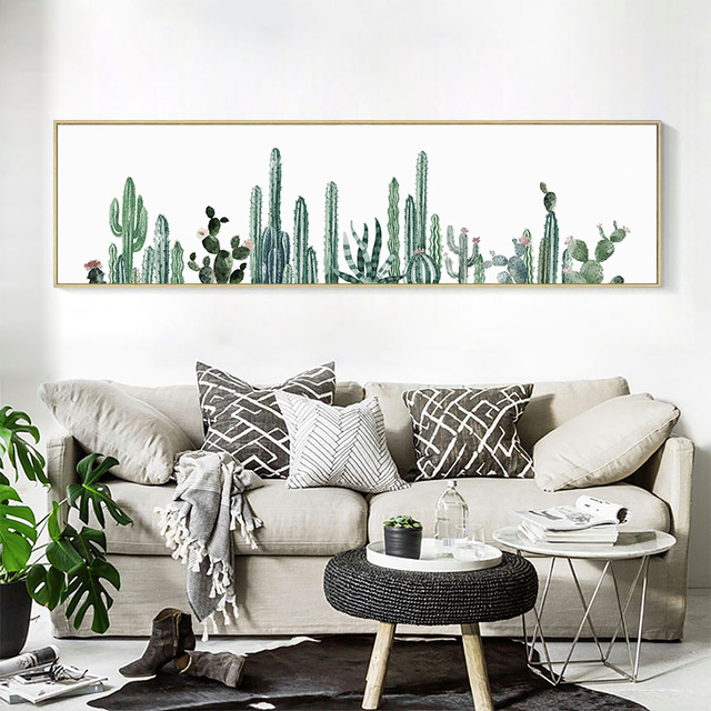 Plant Desert Cactus Wall Art Canvas Painting Nordic Decoration Posters And Prints Wall Pictures For Living Room No Poster Frame
