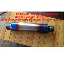 Customized titanium alloy GP exhuast motorcycle modified exhaust pipe cb 400 vtec tubo escape moto akrapovic free shipping