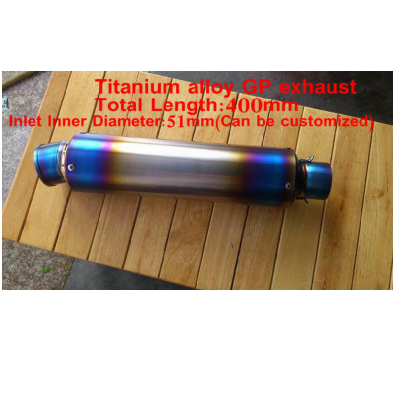 Customized titanium alloy exhuast motorcycle modified exhaust pipe cb 400 vtec tubo escape moto
