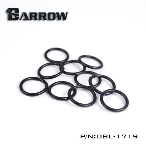 Купить с кэшбэком Barrow OD14mm Hard Tube Black Silicone Seal O-ring 10pcs/set Liquid Cooler System Accessories Fitting Silicone Seal Ring