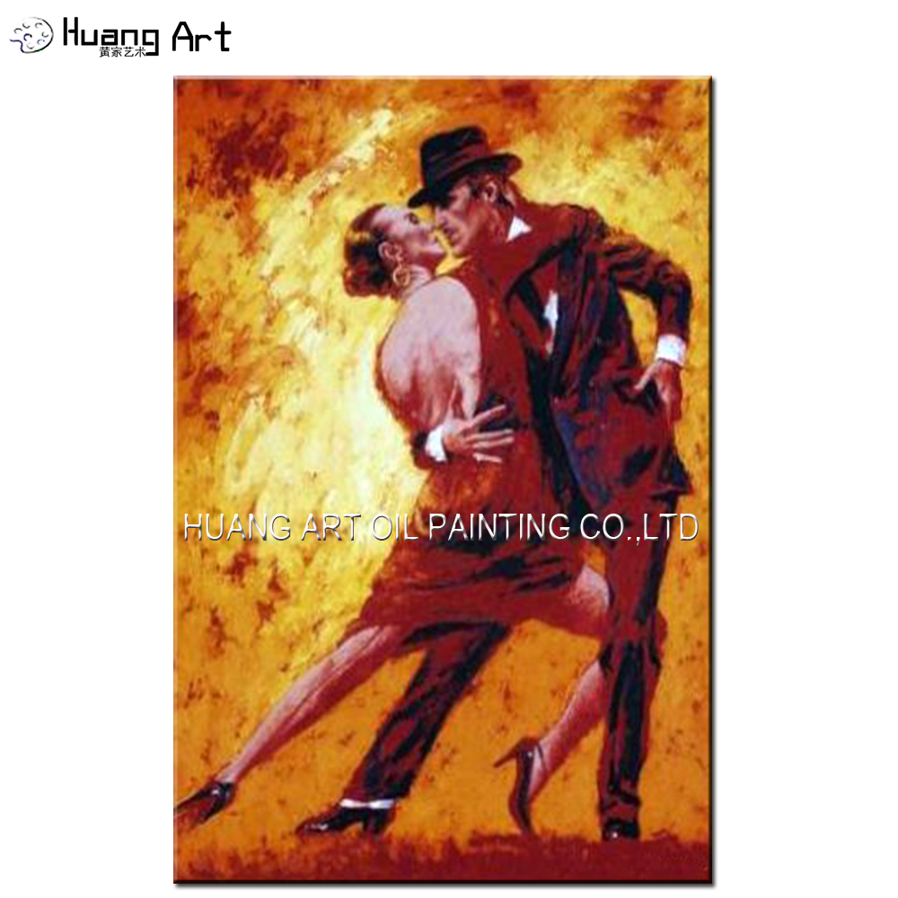Artist Hand-painted High Quality Impression Flamenco Dancer Oil Painting on Canvas Terence Gilbert Golden Tango Oil Painting