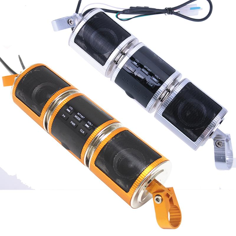 1pcs Motor Bluetooth Audio Sound MP3 FM Radio Stereo Speakers Waterproof