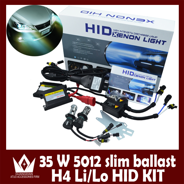 цены  Night Lord 35W HID KITH4 Bi-Xenon HID KIT bulb xenon H4 HID kit Retractable lamp 35W silm ballast 3,000K-30,000k Free Shipping