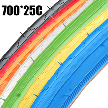 High quality 700*25C 25-622 Road Bike Tyre Bicycle Tires Fixed Gear bike Road Bicycles Cruisers Tire 7 Color Bicycle Accessories
