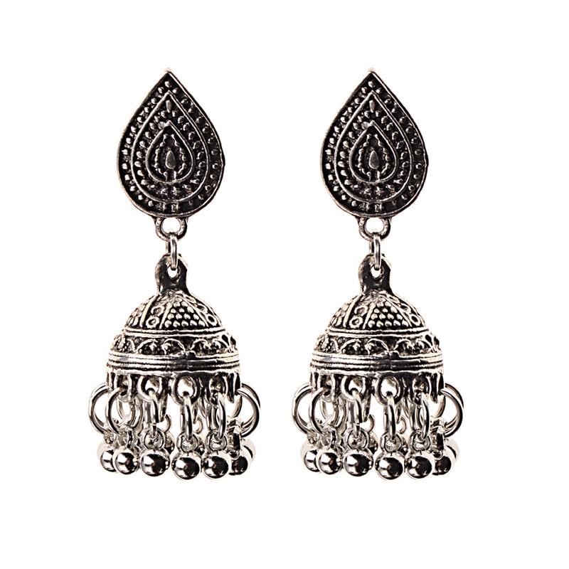 Image 4 - India Retro Birdcage Earrings Handmade Antique Silver Color  Tribal Jewelry BOHO Hippie Wind Pakistani Muslim Thailand NepalDrop  Earrings
