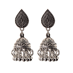 Image 4 - India Retro Birdcage Earrings Handmade Antique Silver Color Tribal Jewelry BOHO Hippie Wind Pakistani Muslim Thailand Nepal