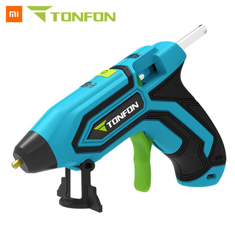 Xiaomi Tonfon Original 3.6v Cordless Hot Glue G U N Usb Rechargable Melt Glue G U N Kits With 10 Glue Sticks Diy Tool Aromatic Character And Agreeable Taste