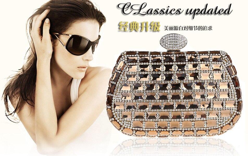 ФОТО Shiny Block! NEW Arrival For 2016 desinger women luxury Rhinestones Handbags chain shoulder Party / Evening bags Women Clutches