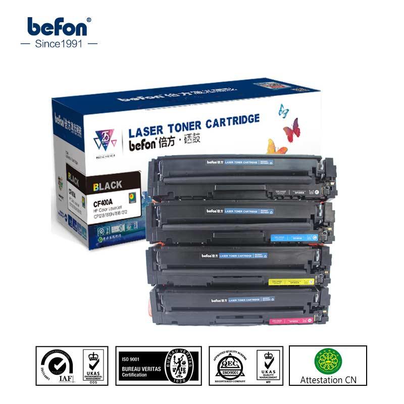 Befon Couleur Cartouche De Toner CF400A CF400 400 Remplacement pour HP201A HP201 HP 201 201a LaserJet Pro M252 252 M277n M277dw 274